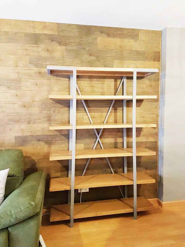 Estantería baldas madera estructura metal